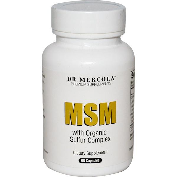 Dr. Mercola, MSM with Organic Sulfur Complex, 60 Capsules