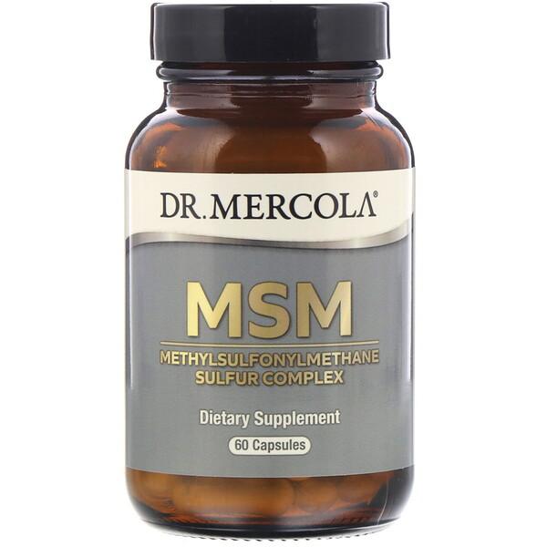 Dr. Mercola, MSM, Methylsulfonylmethane Sulfur Complex, 60 Capsules