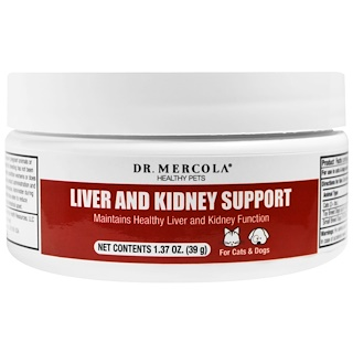 Dr. Mercola, Liver and Kidney Support for Pets, 1.37 oz (39 g)