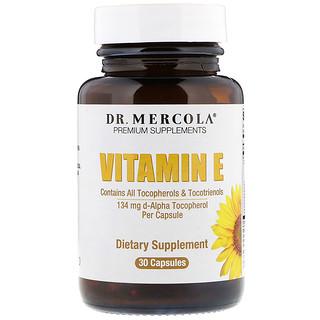 Dr. Mercola, Vitamina E, 30 Cápsulas