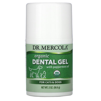 Купить Dr. Mercola Organic Dental Gel, Peppermint Flavor, 2 oz (56.6 g)