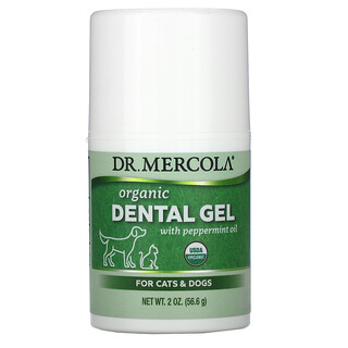 Dr. Mercola, Organic Dental Gel with Peppermint Oil, For Cats & Dogs, 2 oz (56.6 g)