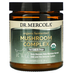 Dr. Mercola, 有機發酵蘑菇複合物,用於貓和狗,2.11 盎司(60 克)