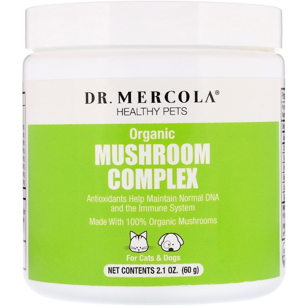 Dr. Mercola, Healthy Pets, Organic Mushroom Complex, For Cats & Dogs, 2.1 oz (60 g)