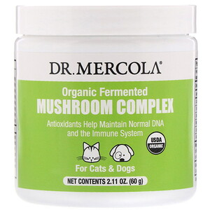 ДР. Меркола, Organic Fermented Mushroom Complex, For Cats & Dogs, 2.11 oz (60 g) отзывы покупателей