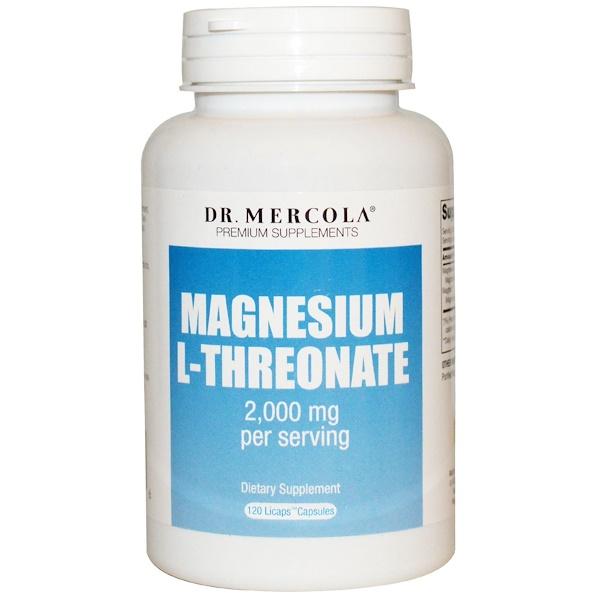 Dr. Mercola, Premium Supplements, Magnesium L-Threonate, 120 Licaps Capsules (Discontinued Item)