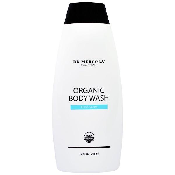 Dr. Mercola, Organic Body Wash, Fresh Scent, 10 fl oz (295 ml) (Discontinued Item)