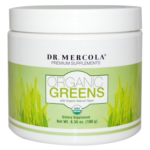 Dr. Mercola, Organic Greens, Natural Flavor, 6.35 oz (180 g) (Discontinued Item)