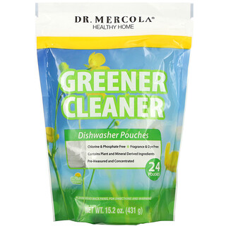 Dr. Mercola, 更綠色更清潔,洗碗機洗滌劑,24 袋,15.2 盎司(431 克)
