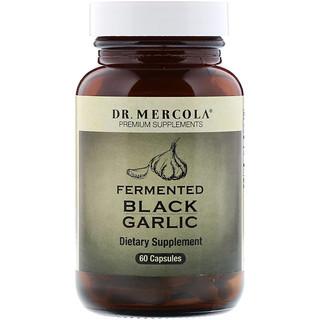Dr. Mercola, 発酵ブラックガーリック, 60 カプセル