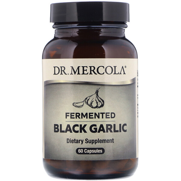 Dr. Mercola, Fermented Black Garlic, 60 Capsules