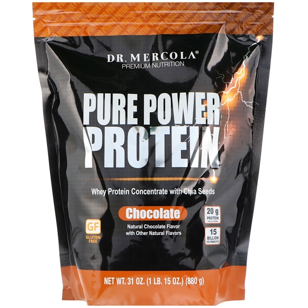 Dr、 Mercola, Pure Power Protein, Chocolate Flavor, 31 oz (880 g)