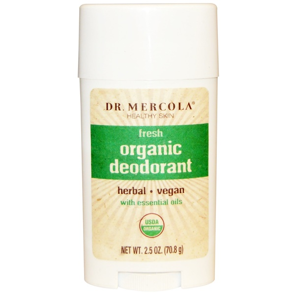 Dr. Mercola, Organic Deodorant, Fresh, 2.5 oz (70.8 g) (Discontinued Item)