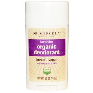 Dr. Mercola, Organic Deodorant, Lavender, 2.5 oz (70.8 g)
