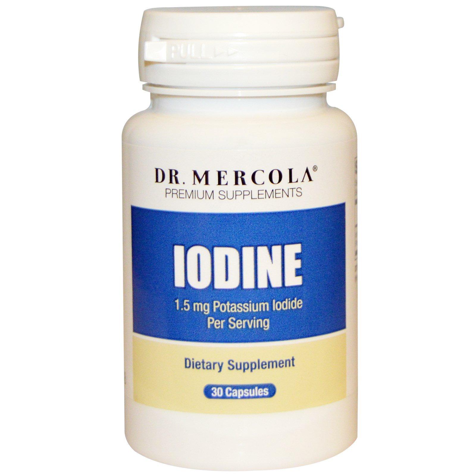 Dr. Mercola, Iodine, 1.5 mg, 30 Capsules - iHerb.com