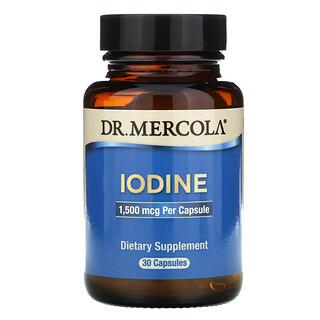 Dr. Mercola, Iodine, 1.5 mg, 30 Capsules