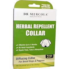 Dr. Mercola, Herbal Repellent Collar, For Small Dogs & Puppies, One Collar, 0.7 oz (19.85 g)