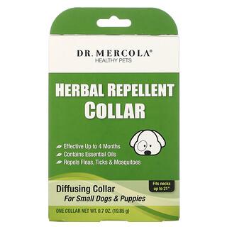 Dr. Mercola, طوق عشبي طارد للحشرات، للكلاب الصغيرة والجراء، 1 طوق، 0.7 أونصة (19.85 غ)