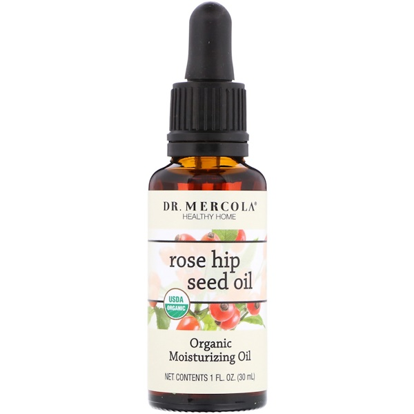 Dr. Mercola, Organic Moisturizing Oil, Rose Hip Seed Oil, 1 fl oz (30 ml) (Discontinued Item)