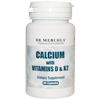 Dr. Mercola, Calcium with Vitamins D & K2, 60 Capsules