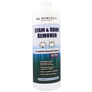 Dr. Mercola, Healthy Pets, Stain and Odor Remover, 24 fl oz (709 ml)