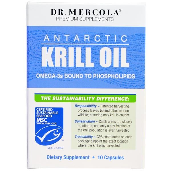 Dr. Mercola, Premium Supplements, Antartic Krill Oil, 10 Capsules (Discontinued Item)