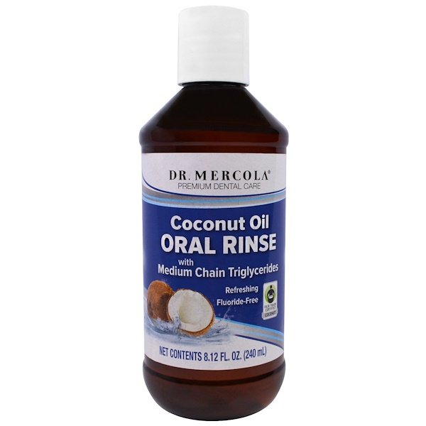 Dr. Mercola, Enxaguante Bucal de Óleo de Coco, 8,12 fl oz (240 ml) (Discontinued Item)