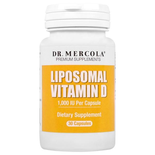 Dr. Mercola, Liposomal Vitamin D, 1,000 IU, 30 Capsules