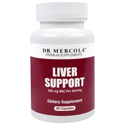 Купить Dr. Mercola пищевая добавка с ацетилцистеином для здоровья печени, 60 капсул
