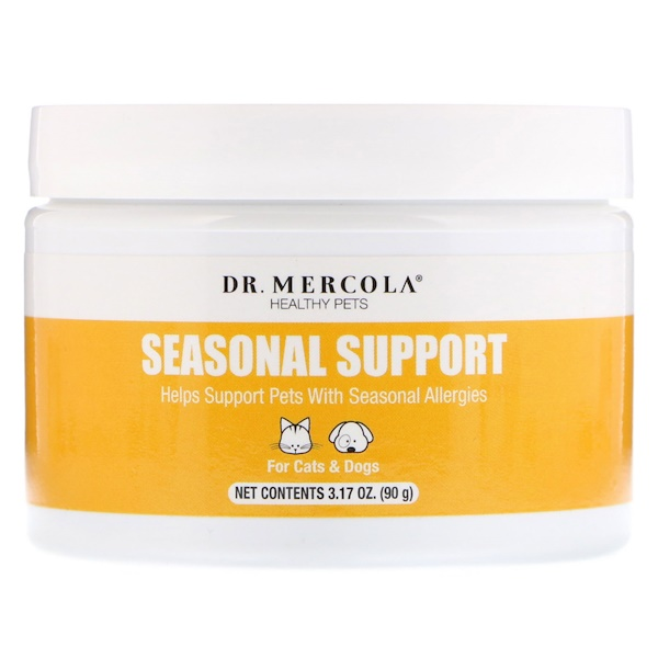 Dr. Mercola, Healthy Pets, Seasonal Support, For Cats and Dogs, 3.17 oz (90 g) (Discontinued Item)