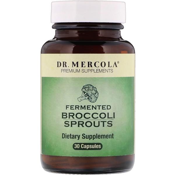 Dr. Mercola, 発酵ブロッコリースプラウト、30カプセル