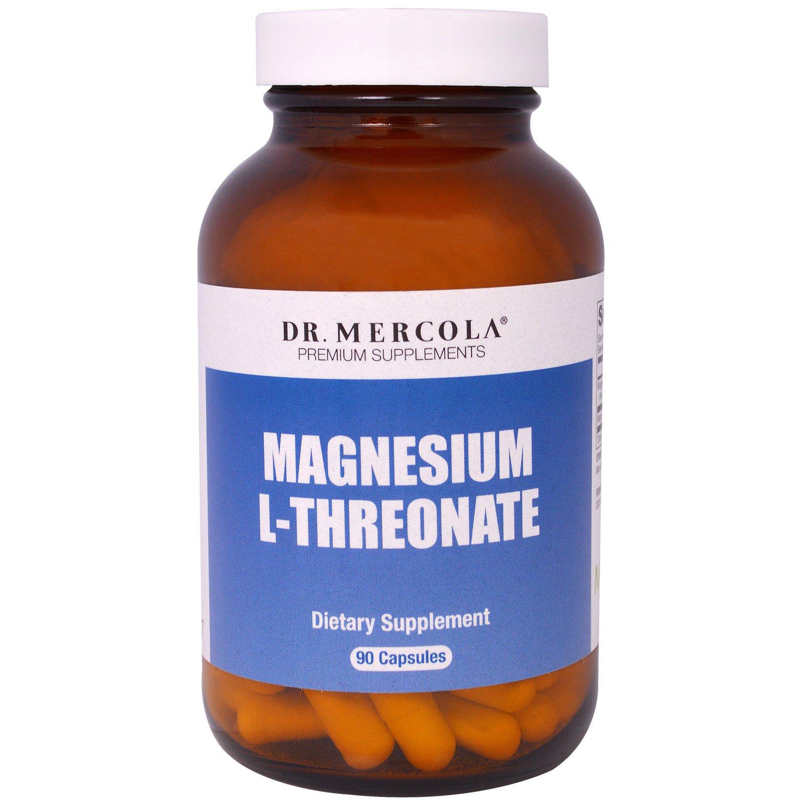 Dr. Mercola, L-Треонат магния, 90 капсул