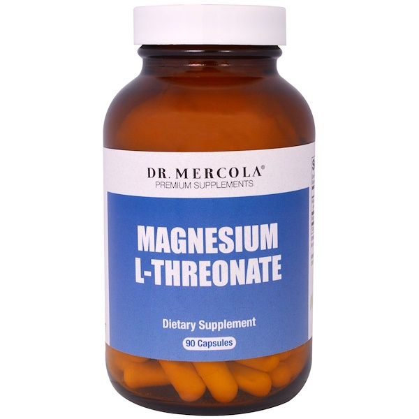 Dr. Mercola, مكملات Magnesium L-Threonate الإضافية، 90 كبسولة