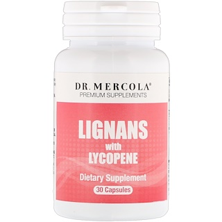 Dr. Mercola, Lignans with Lycopene, 30 Capsules