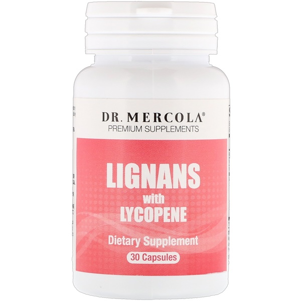 Dr. Mercola, Lignans with Lycopene, 30 Capsules (Discontinued Item)