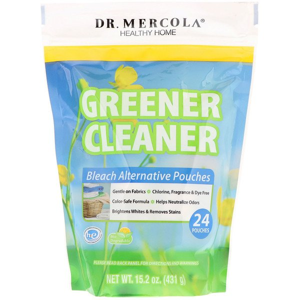 Dr. Mercola, Greener Cleaner, Bleach Alternative Pouches, 24 Pouches