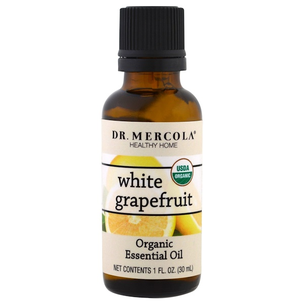 Dr. Mercola, Organic Essential Oil, White Grapefruit, 1 oz (30 ml)