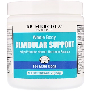 Dr. Mercola, Healthy Pets, Whole Body Glandular Support, For Male Dogs, 4.0 oz (113 g)