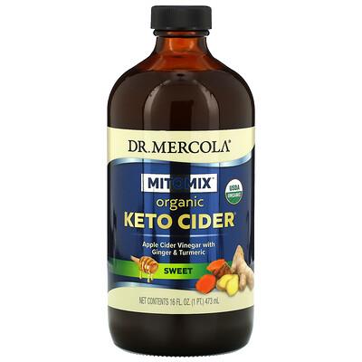 Купить Dr. Mercola Mitomix, Organic Keto Cider, органический уксус для кетодиеты, сладкий, 473мл (16жидк.унций)