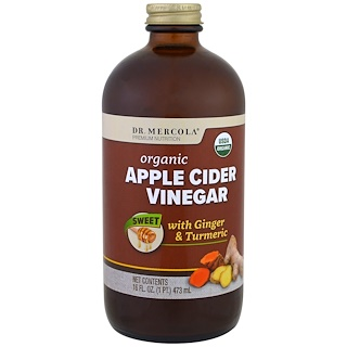 Dr. Mercola, Organic Apple Cider Vinegar, Sweet, 16 oz (473 ml)