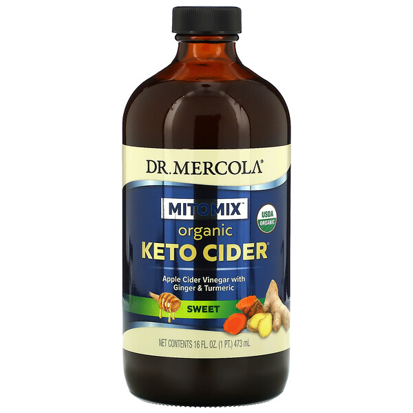 Organic Keto Cider Vinegar, Sweet, 16 fl  oz (473 ml)