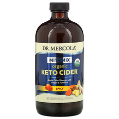 Dr. Mercola, 有機生酮蘋果醋,辛辣,16 盎司(473 毫升)