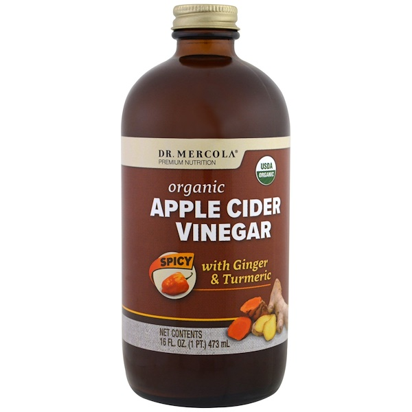 Dr. Mercola, Organic Apple Cider Vinegar, Spicy, 16 oz (473 ml)