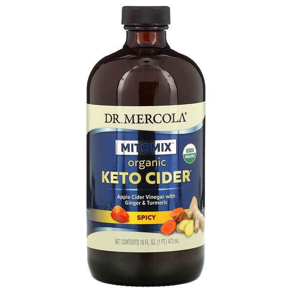 Organic Keto Cider, Spicy, 16 oz (473 ml)