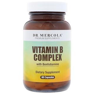 Dr. Mercola, Vitamin B Complex with Benfotiamine, 60 Capsules