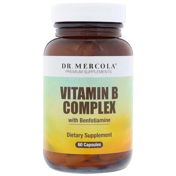 Complexo de Vitamina B com Benfotiamina, 60 Cápsulas