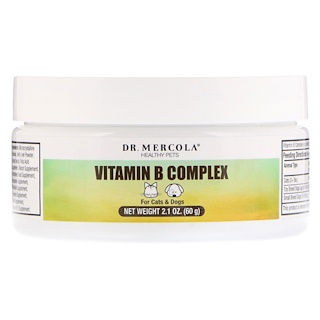 Dr. Mercola, Healthy Pets, Vitamin B Complex, For Cats & Dogs, 2.1 oz (60 g)