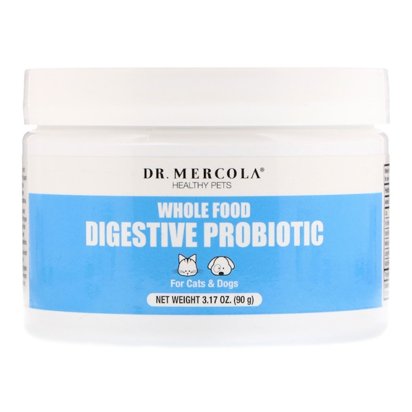 Dr. Mercola, Healthy Pets, Whole Food Digestive Probiotic, For Cats & Dogs, 3.17 oz (90 g)