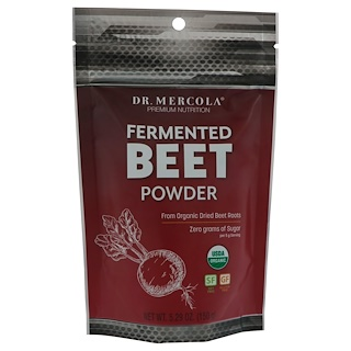 Dr. Mercola, Fermented Beet Powder, 5.29 oz (150 g)