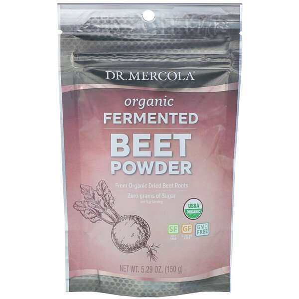 Dr. Mercola, Organic Fermented Beet Powder, 5.29 oz (150 g)